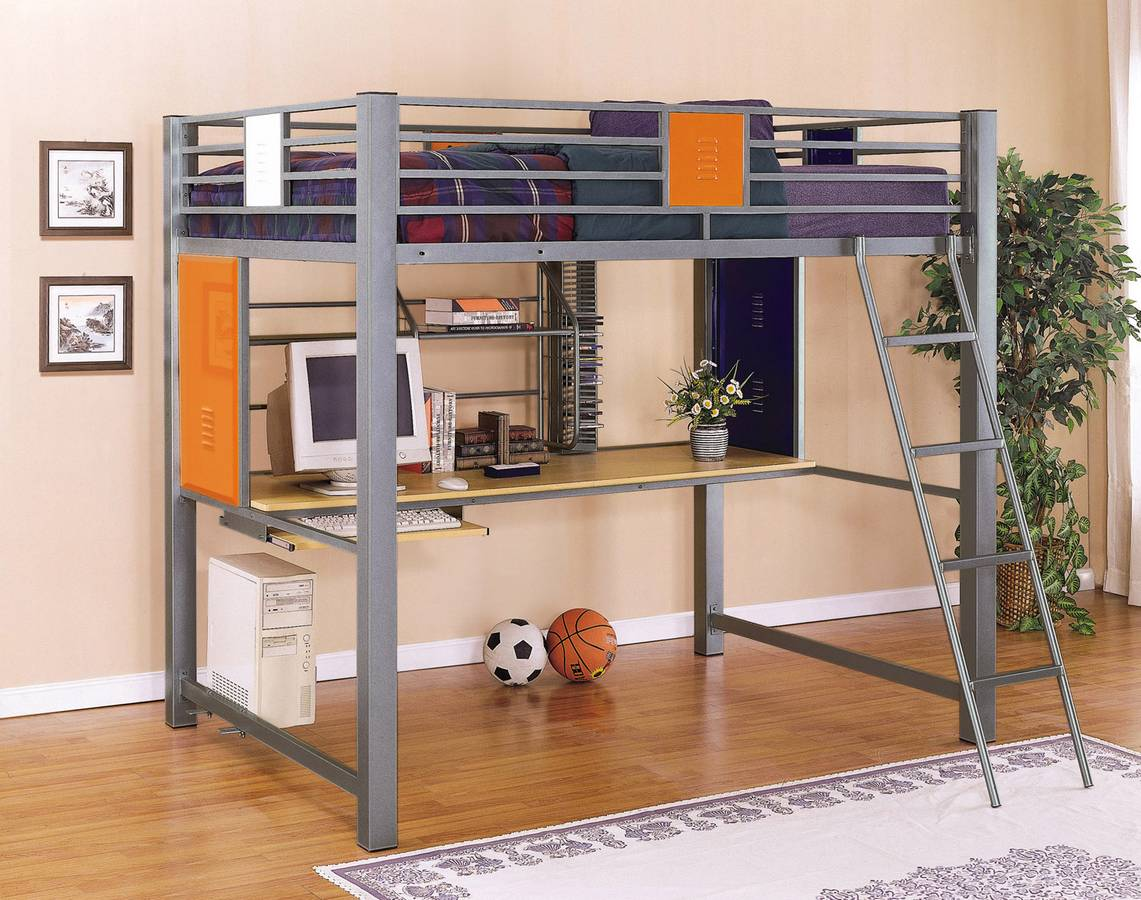 Cheap Powell Teen Trends Full Loft Study Bunk Bed