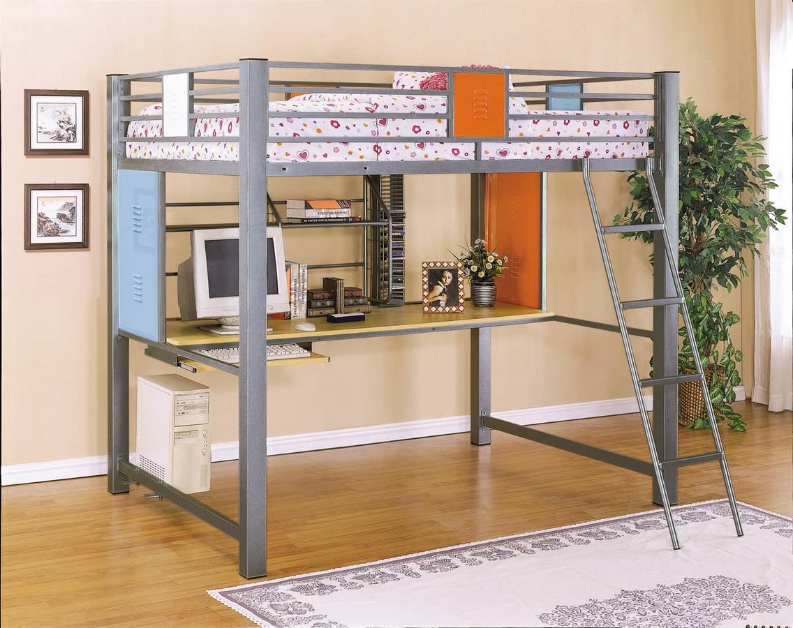 Powell Teen Trends Full Loft Study Bunk Bed PW-517-117 at ...