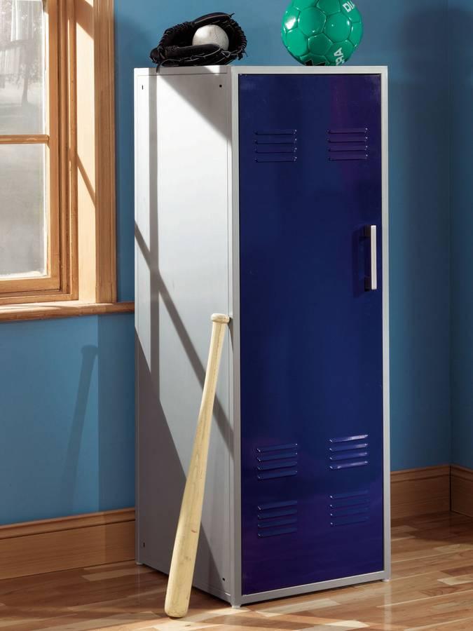 Cheap Powell Teen Trends Navy Blue Storage Locker