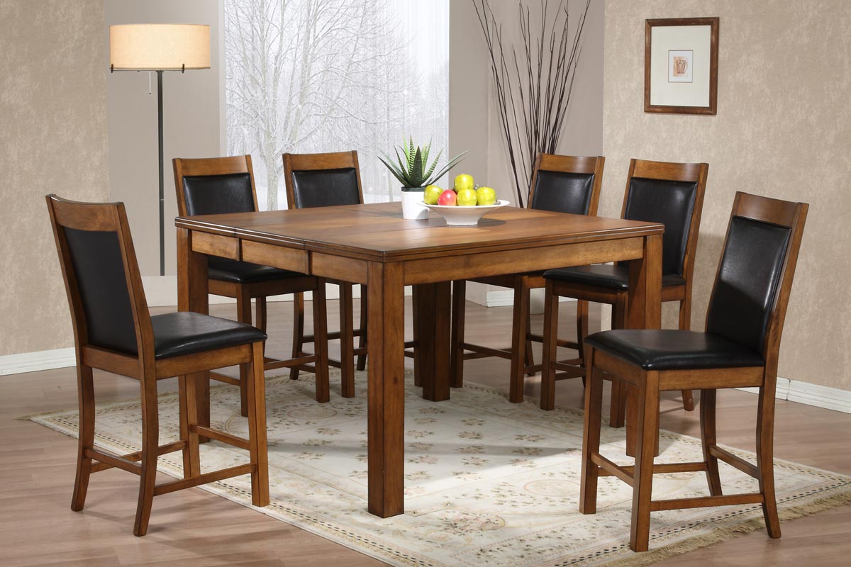 Powell Millcreek Medium Oak Counter Height Dining Set
