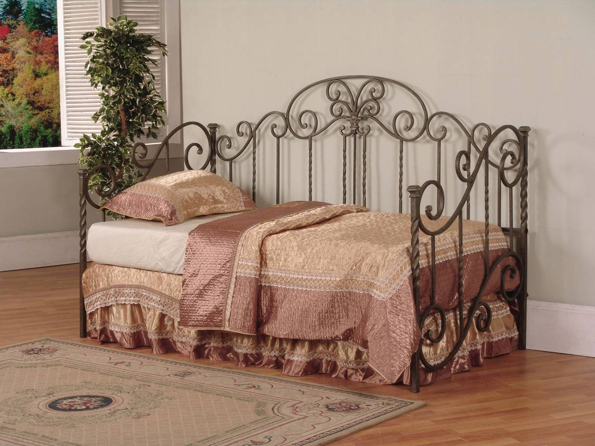 Cheap Powell Salem Distressed Pewter and Mottled Black Textured Daybed