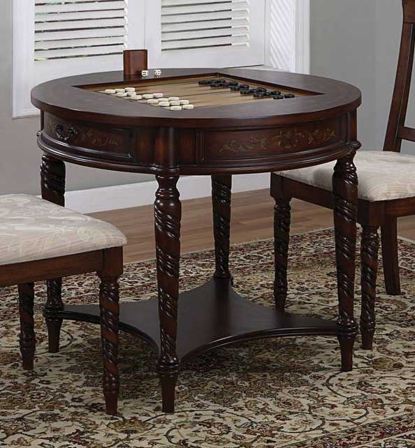Cheap Powell Masterpiece Game Table with Game Pieces Drawer and Shelf