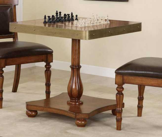 Cheap Powell Woodland Oak – Antique Brass Game Table