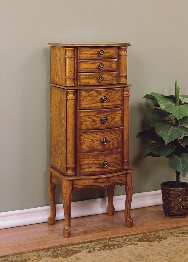 powell woodland oak jewelry armoire pw 604 315 at