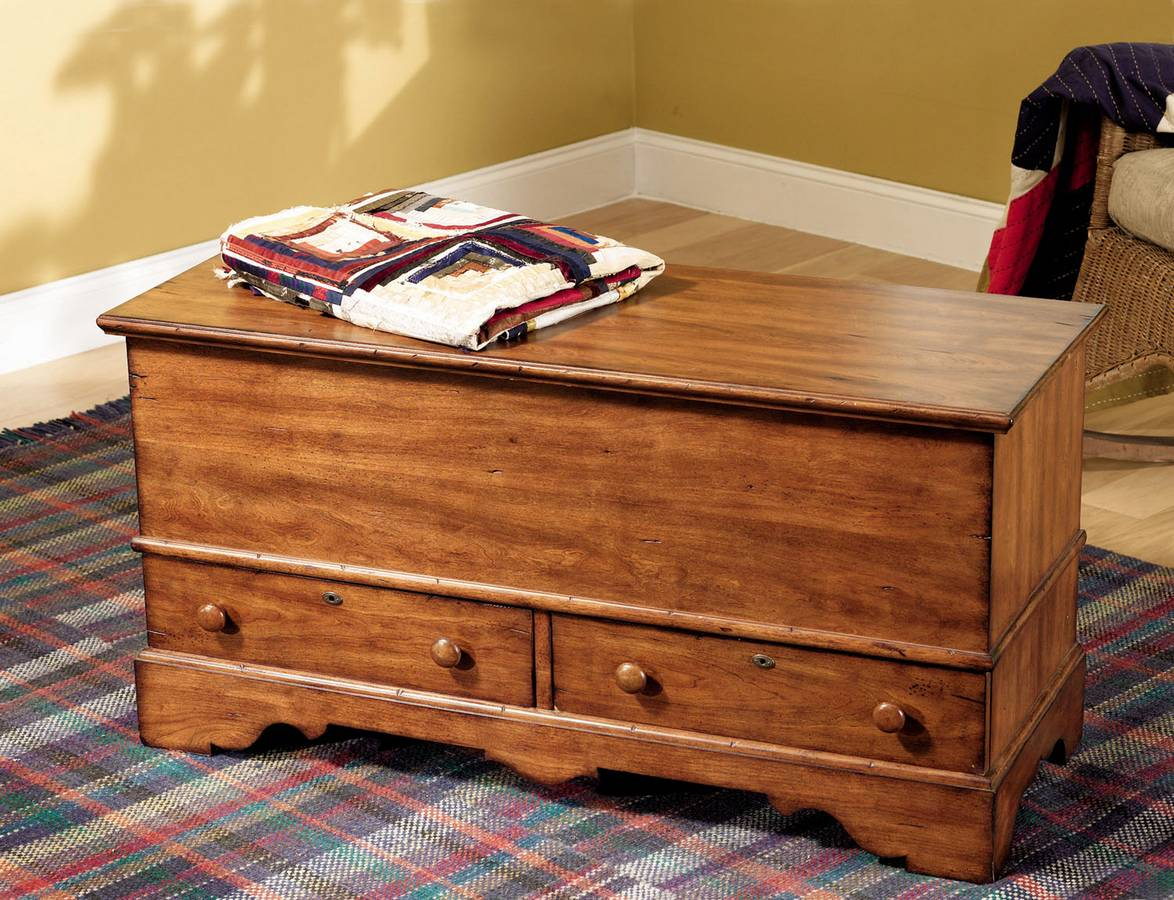 Cheap Powell Woodland Cherry Jewelry Storage Cedar Chest