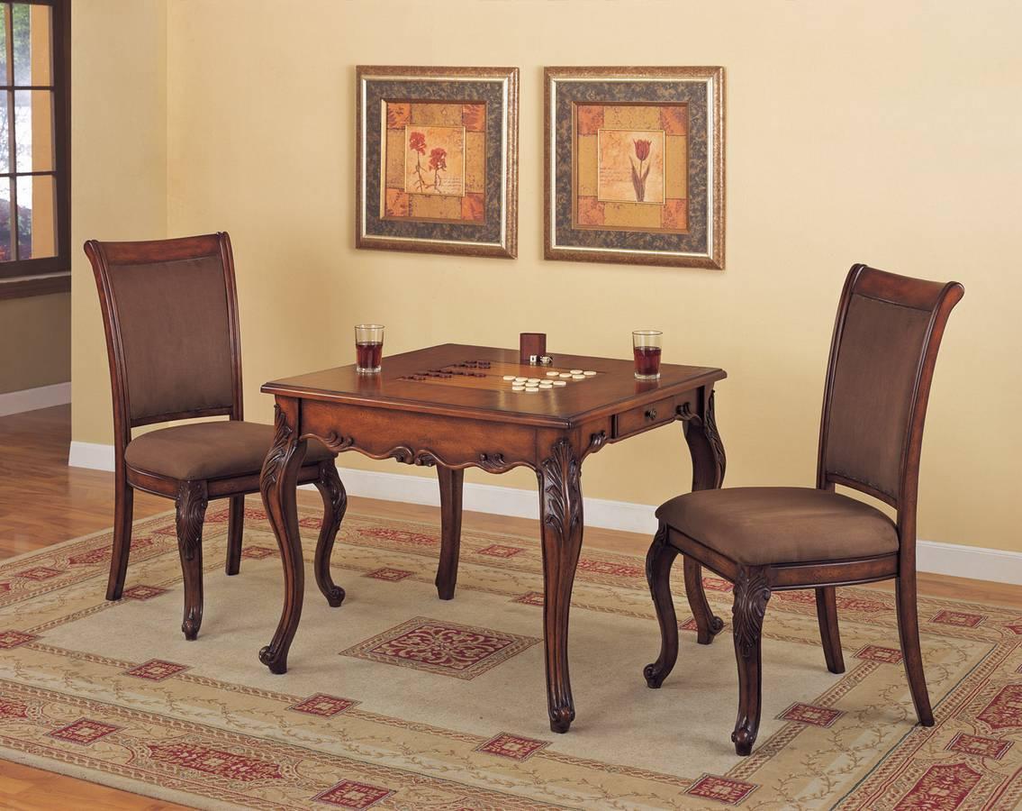 Cheap Powell Mahogany Game Table Set