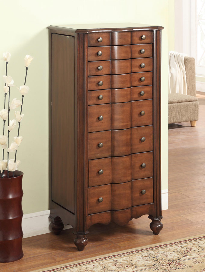 Powell Mahogany Jewelry Armoire PW-612-314 at Homelement.com
