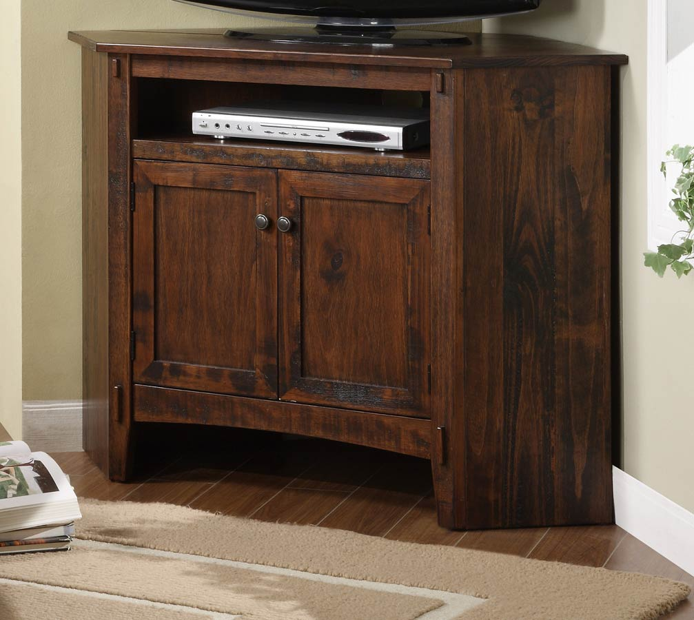 Powell Rustic Corner TV Stand PW-634-954 at Homelement.com
