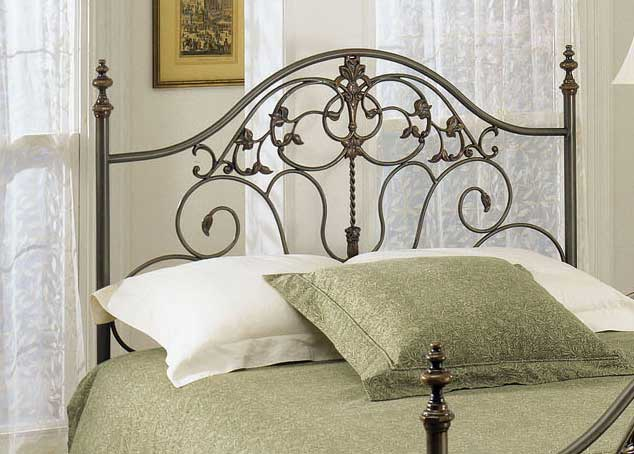 Cheap Powell Danville Patina Gray with Bronze Headboard