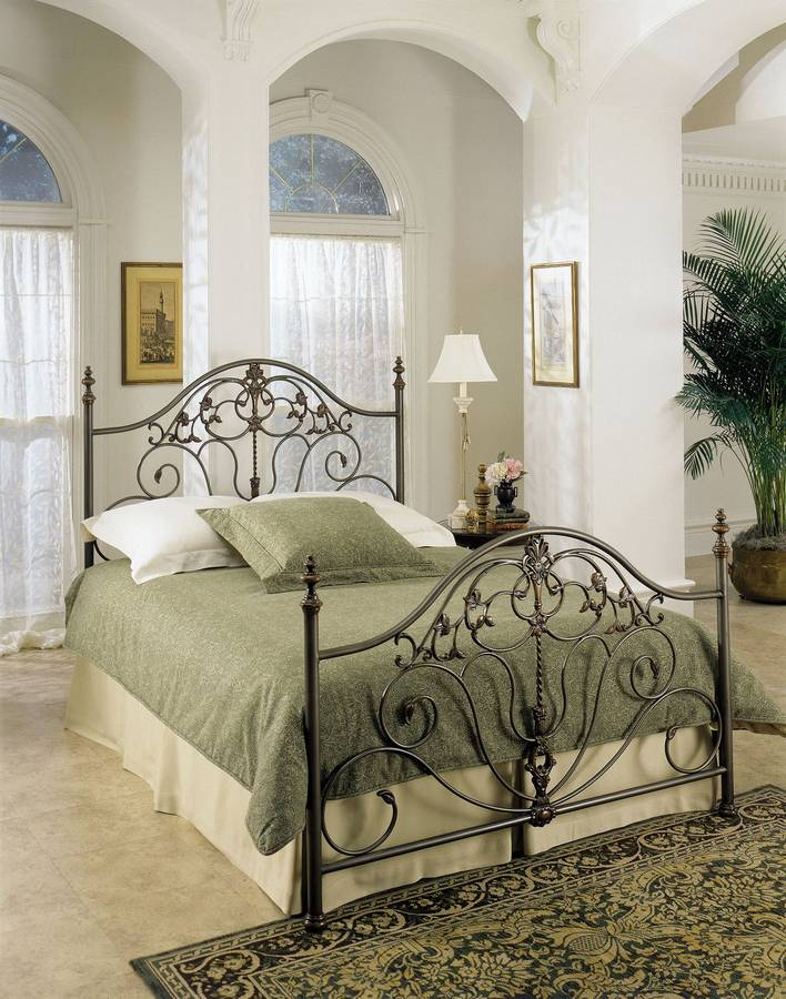 Cheap Powell Danville Patina Gray with Bronze Bed
