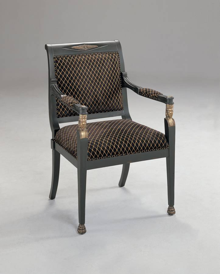 Powell Nile Black Carved Arm Chair