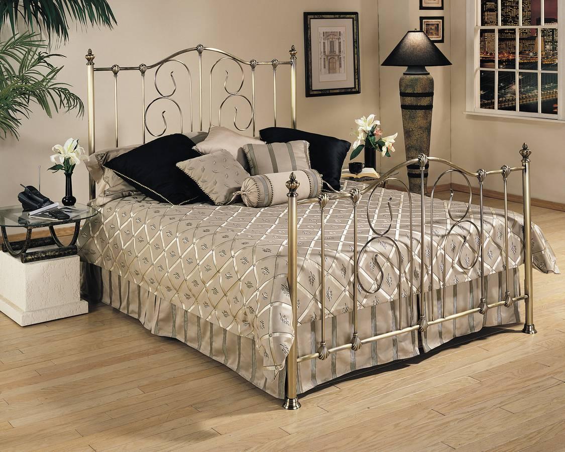 Cheap Powell Crestview Vintage Brass Bed