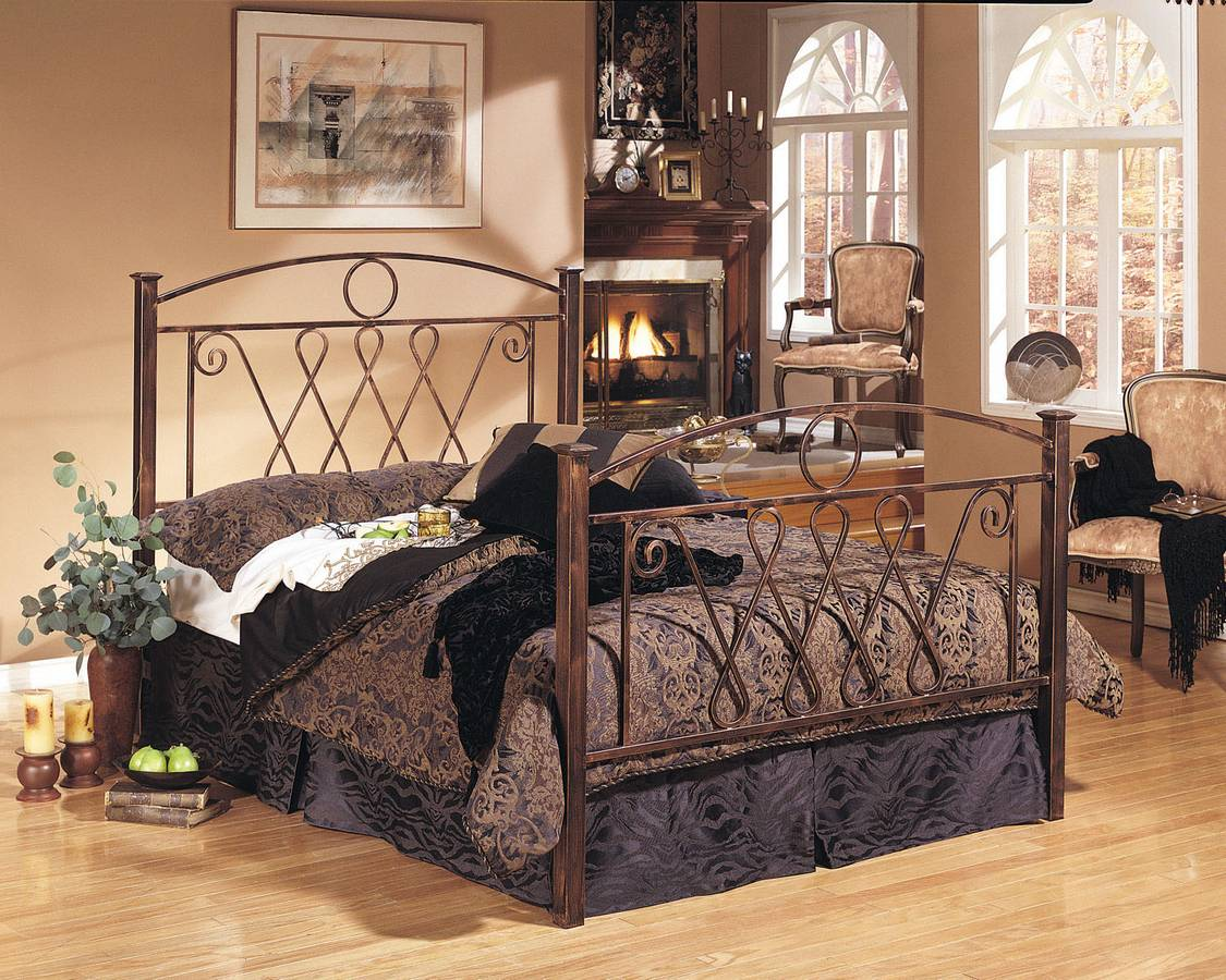 Powell Cimarron Brushed Copper Bed