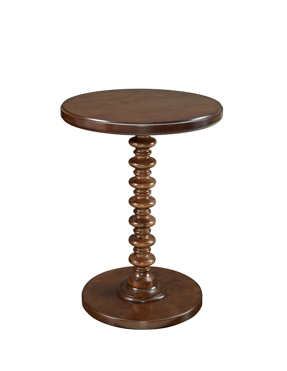 Powell Hazelnut Round Spindle Table - Kraven