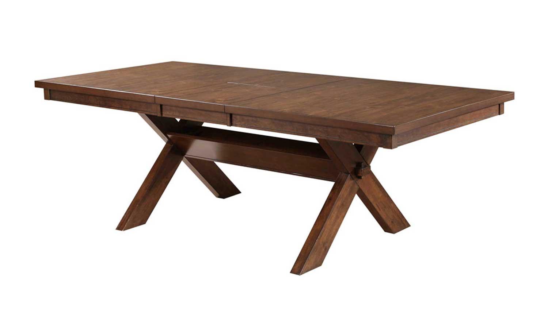 Powell Kraven Acacia Dining Table - Dark Hazelnut