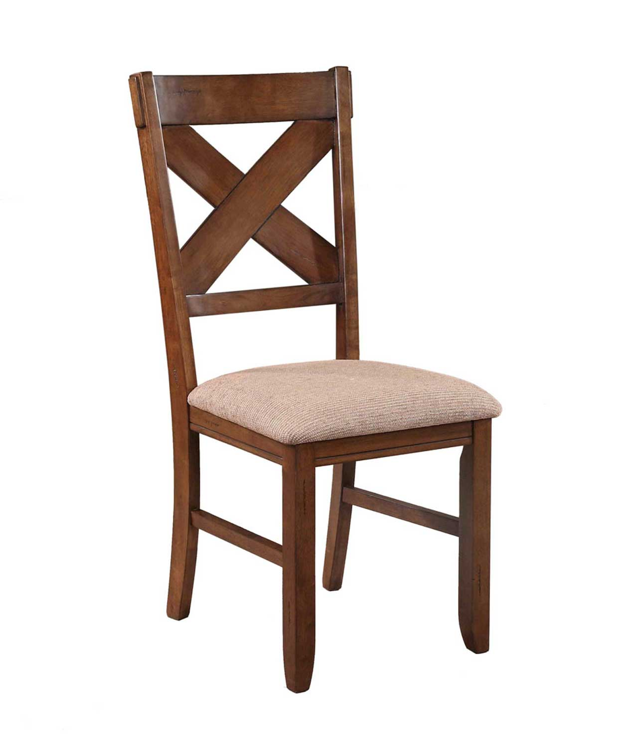 Powell Kraven Dining Side Chair - Dark Hazelnut