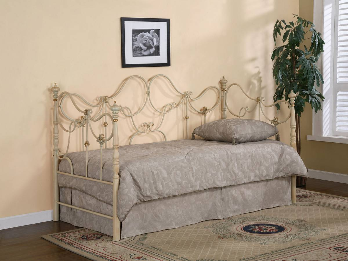 Cheap Powell Auburn Brushed Bronze over Vanilla with Gold Daybed