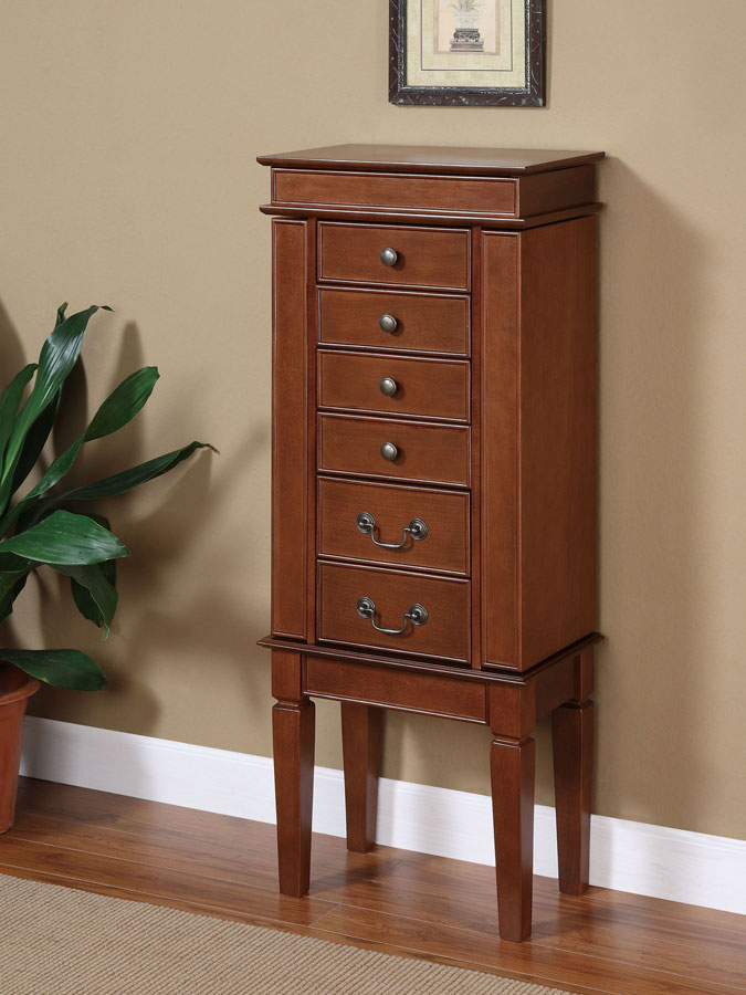 Cheap Powell Walnut Jewelry Armoire