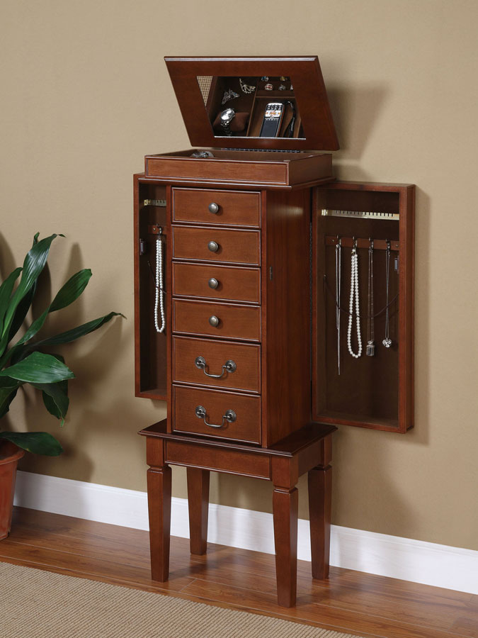 Powell Walnut Jewelry Armoire