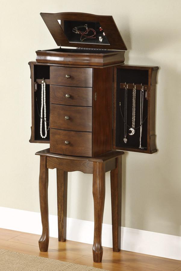 Powell Louis Philippe Walnut Jewelry Armoire