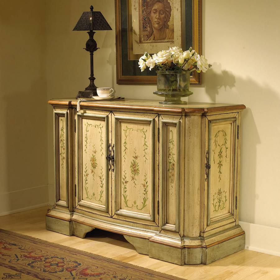 Hall Console Cabinet powell english garden antique white and sage hall console cabinet
