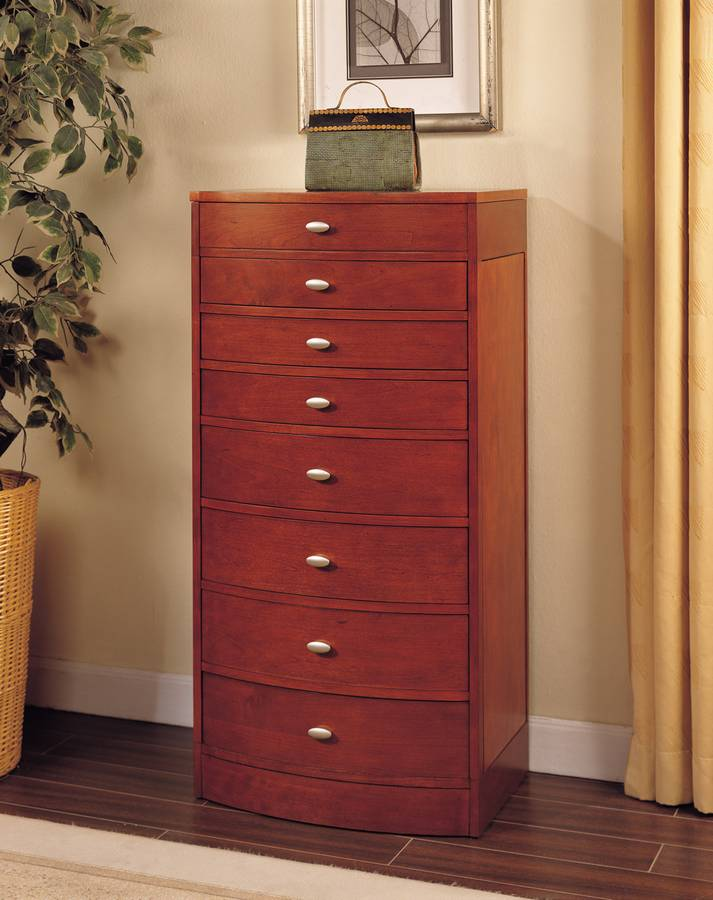 Cheap Powell Natural Cherry Jewelry Armoire