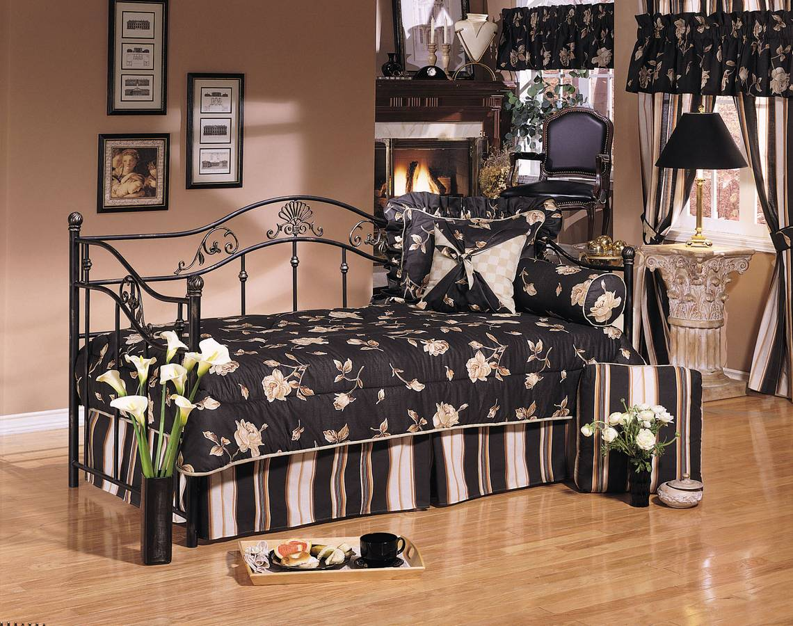 Cheap Powell Madison Black and Gold Daybed