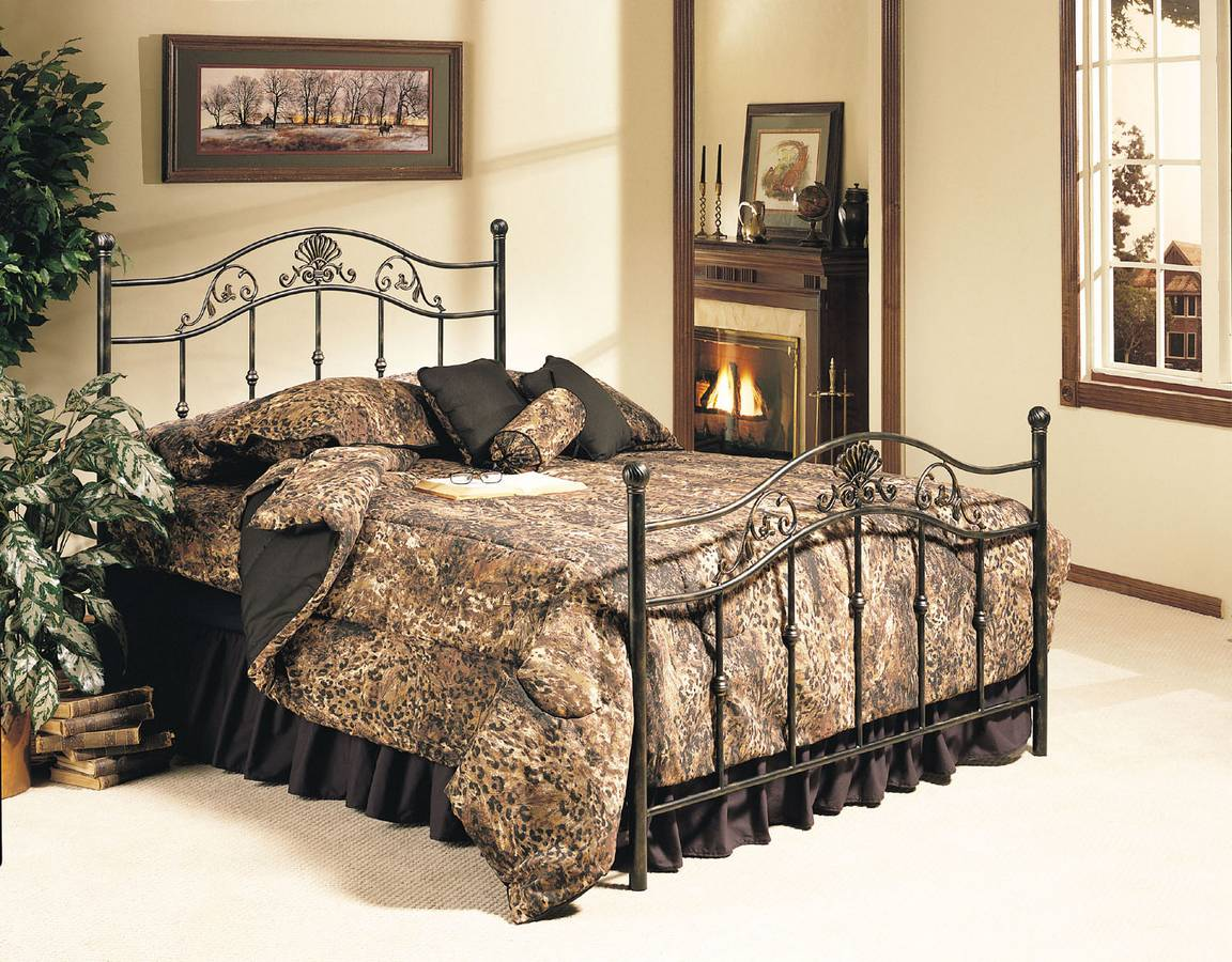 Cheap Powell Madison Black and Gold Bed