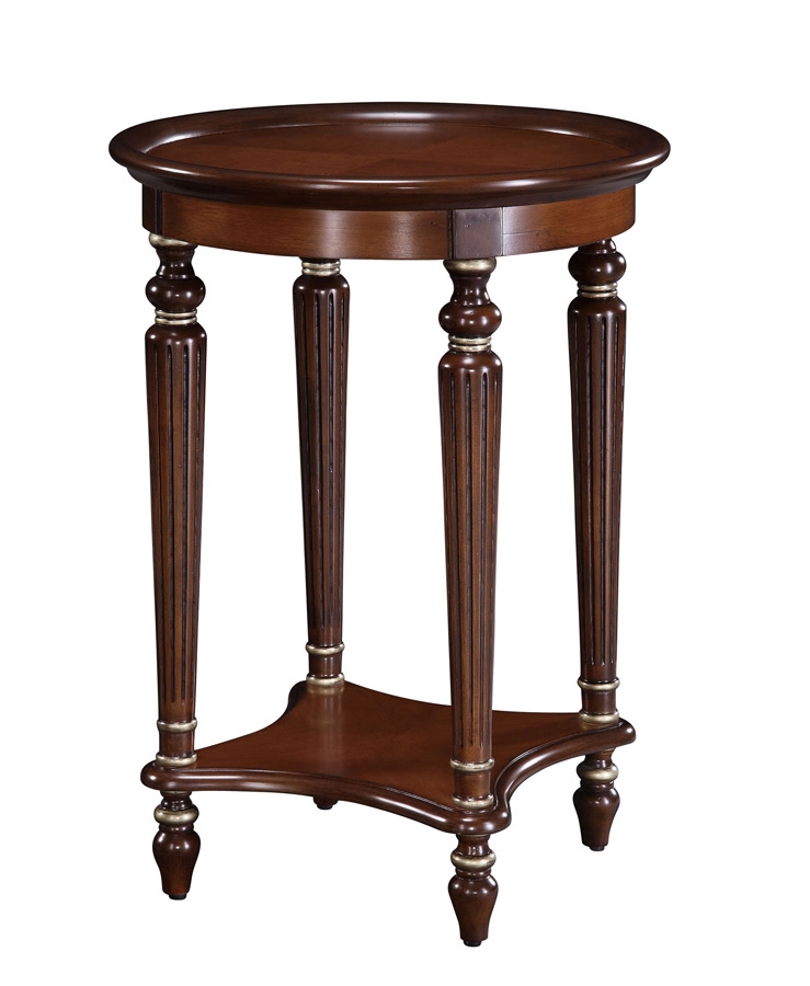 Masterpiece Accent Table with Reeded Legs and Veneer Top with Wood Gallery - Powell