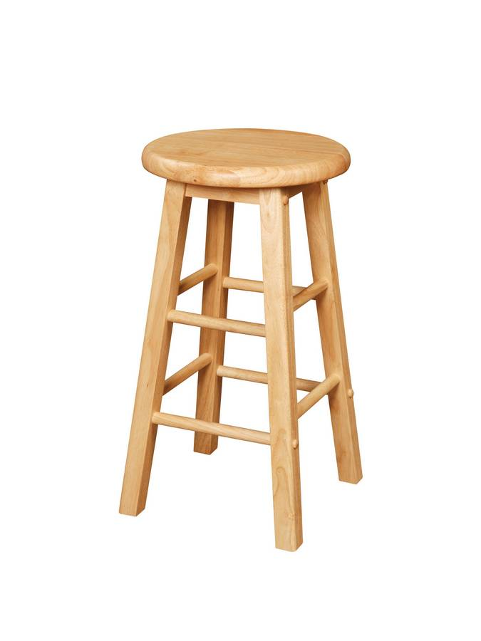 Cheap Powell Color Story Natural Kitchen Stool