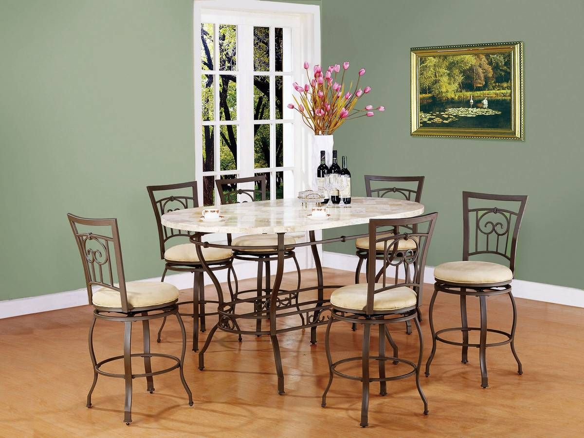 Powell Clayton Counter Height Dining Set