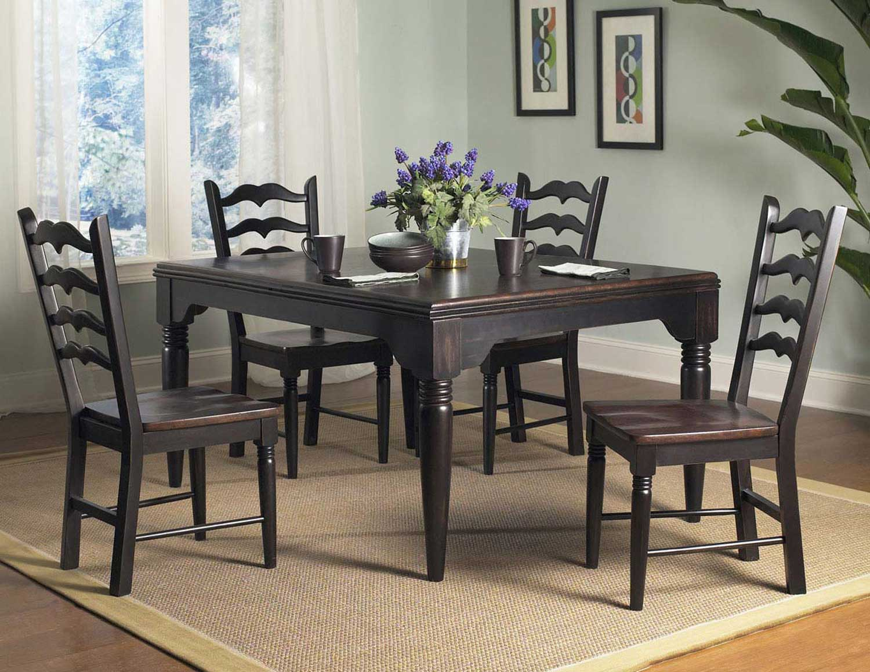Powell Seville Rectangle Dining Set - Brown/Black