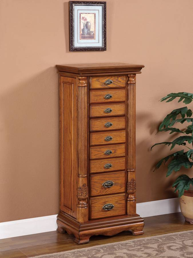 Powell Nostalgic Oak Jewelry Armoire PW-997-319 at ...