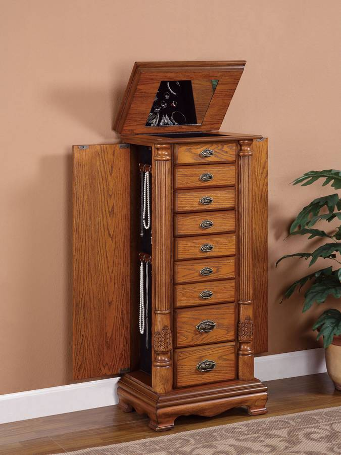 Powell Nostalgic Oak Jewelry Armoire Pw 997 319 At