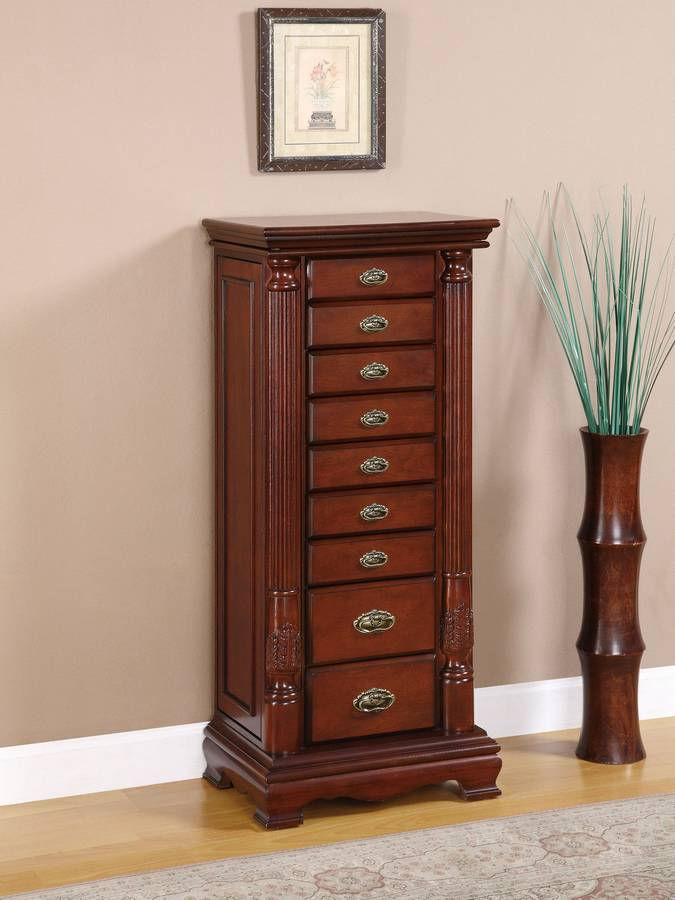 Powell Heirloom Cherry Jewelry Armoire PW-998-319 at ...