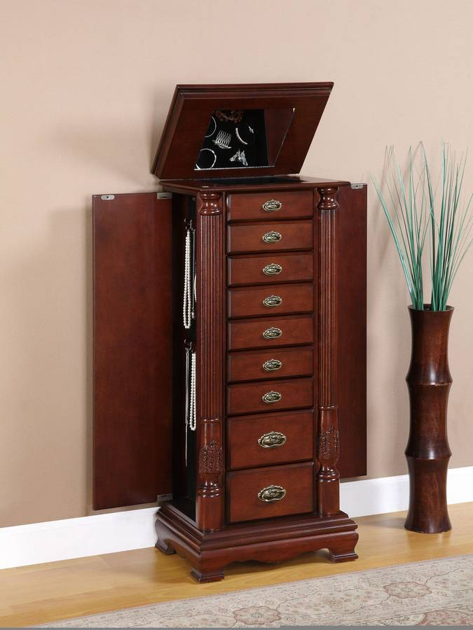 Powell Heirloom Cherry Jewelry Armoire Pw 998 319 At