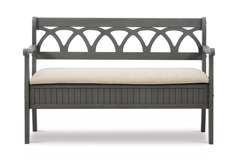 Powell Elliana Storage Bench - Grey