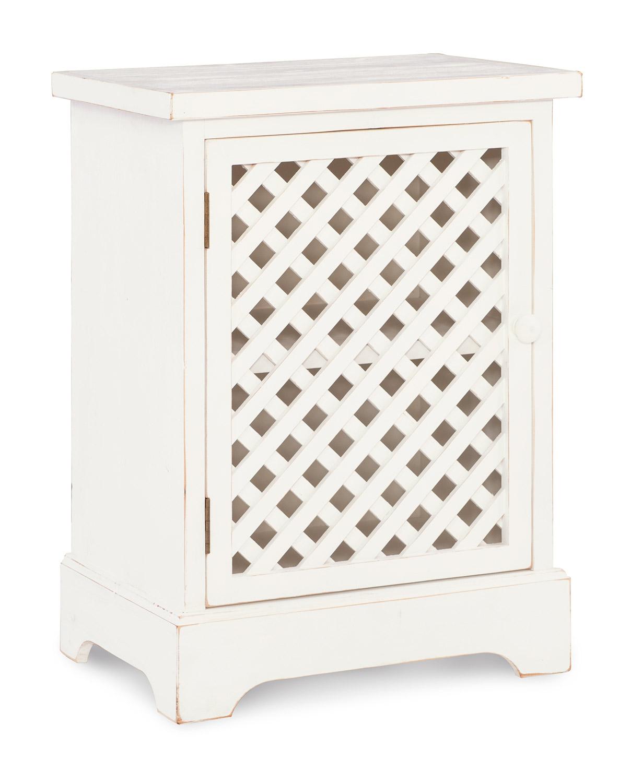Powell Delaney 1-Door Cabinet - Distressed White