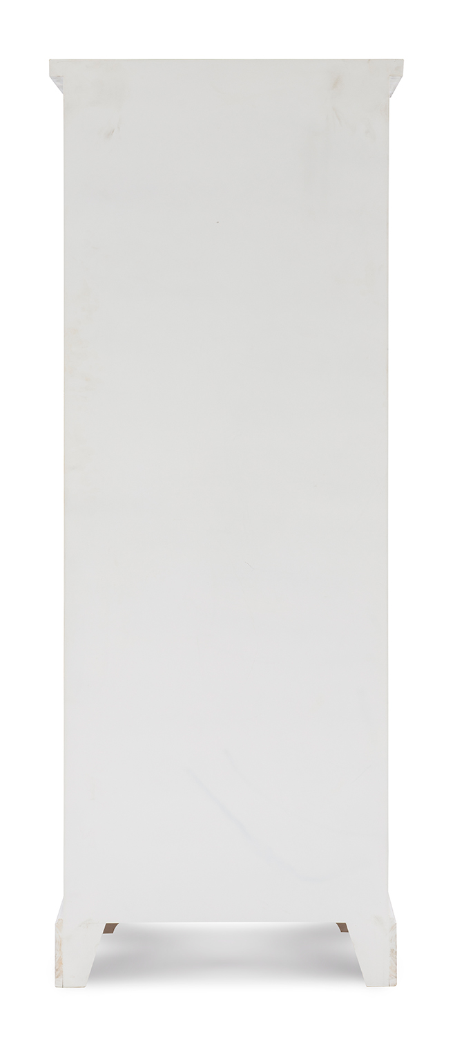 Powell Delaney Tall Cabinet - Distressed White