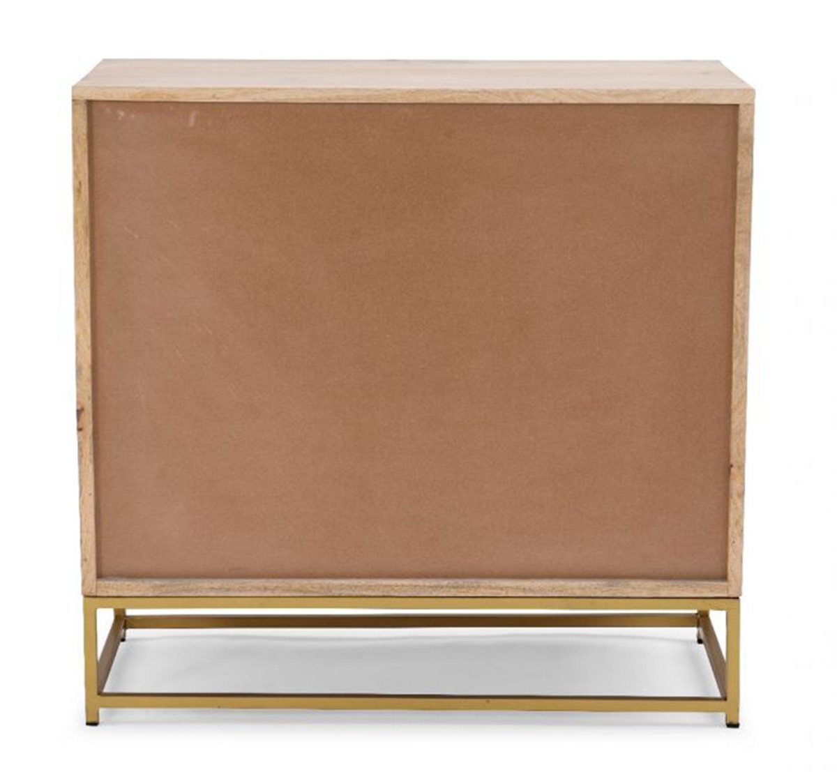 Powell Janie Rattan 3-Drawers Cabinet - Natural and Gold