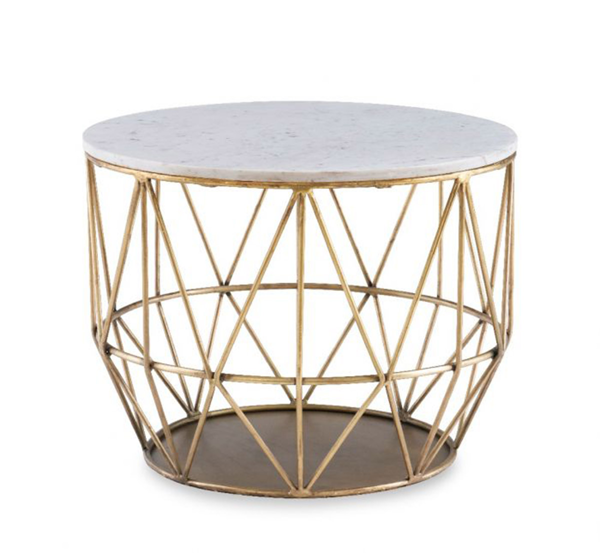 Powell Anderson Wire Side Table - Gold