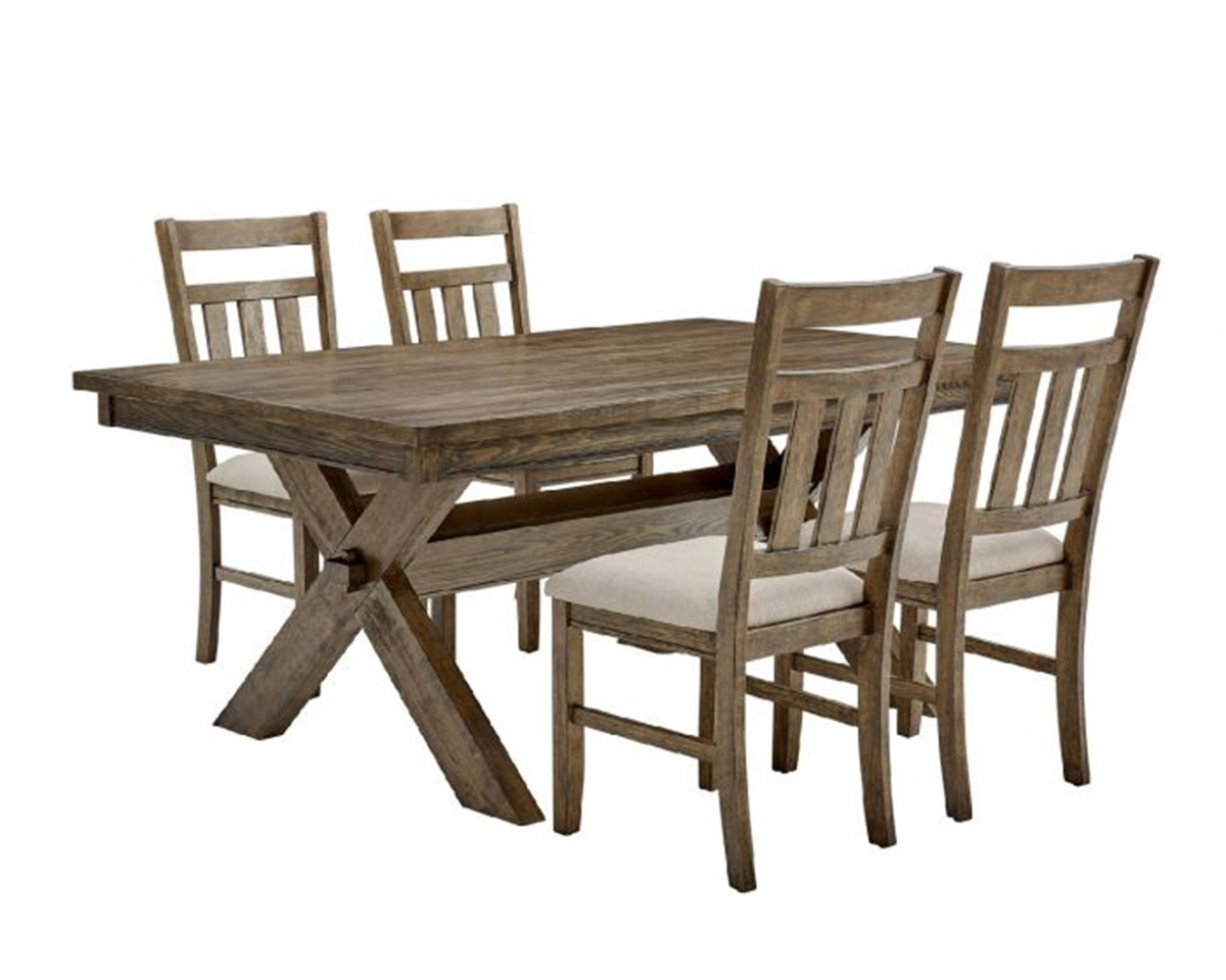 Powell Turino 5PC Dining Set - Rustic Umber