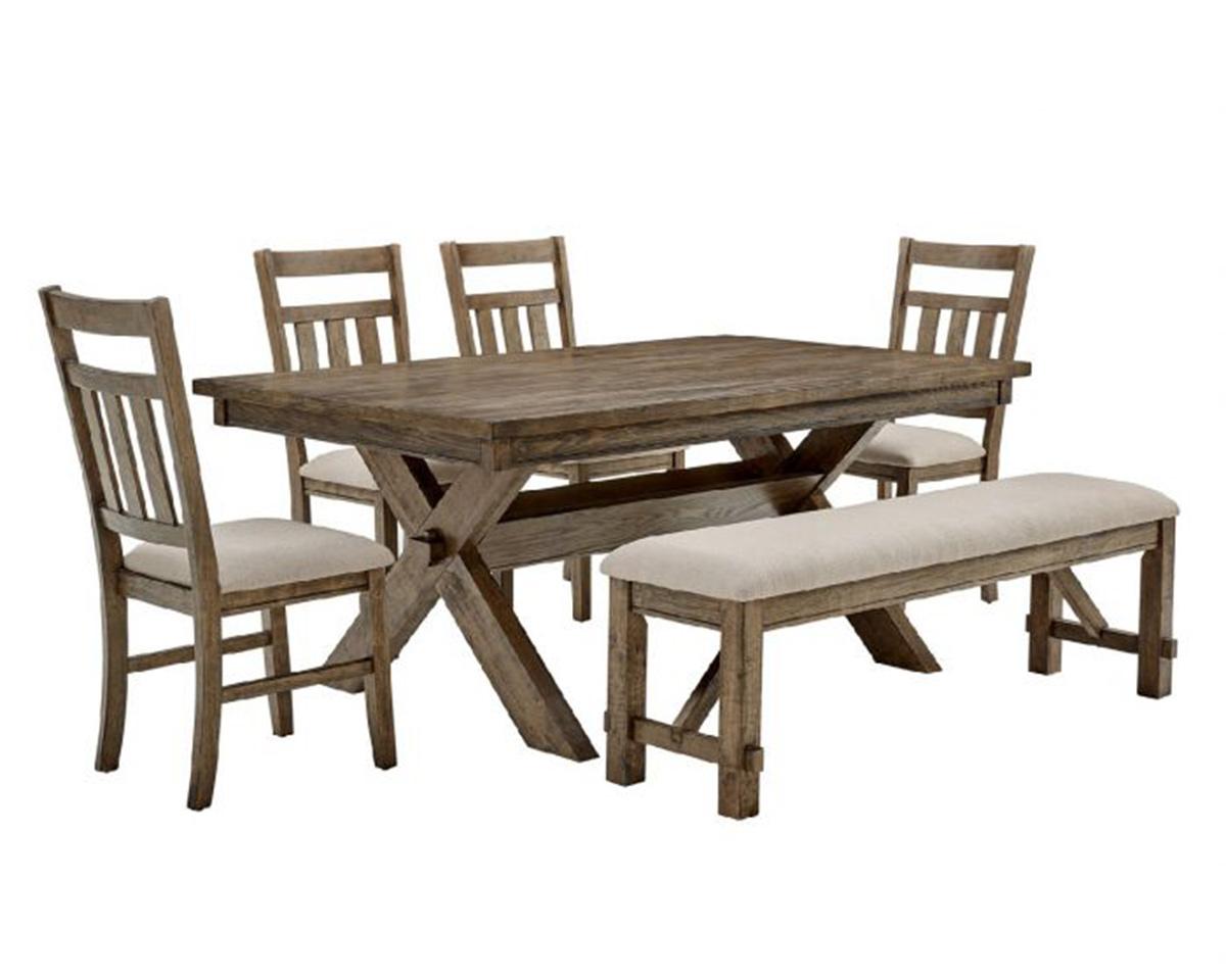 Powell Turino 6PC Dining Set - Rustic Umber