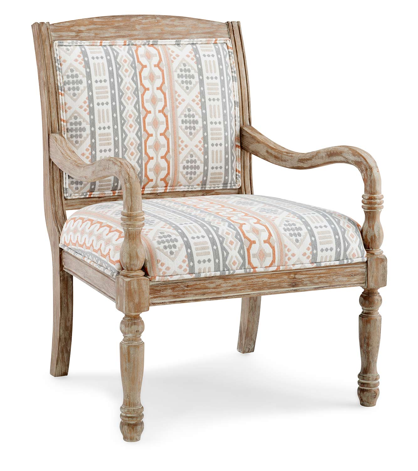 Powell Watson Accent Chair - Natural Wire brush Finish
