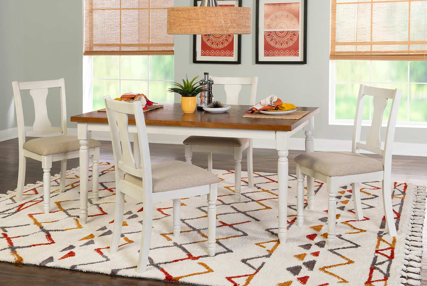Powell Willow 5-Piece Dining Set - Brown