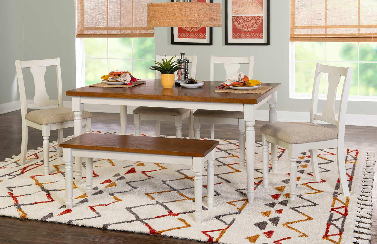 Powell Willow 6-Piece Dining Set - Brown
