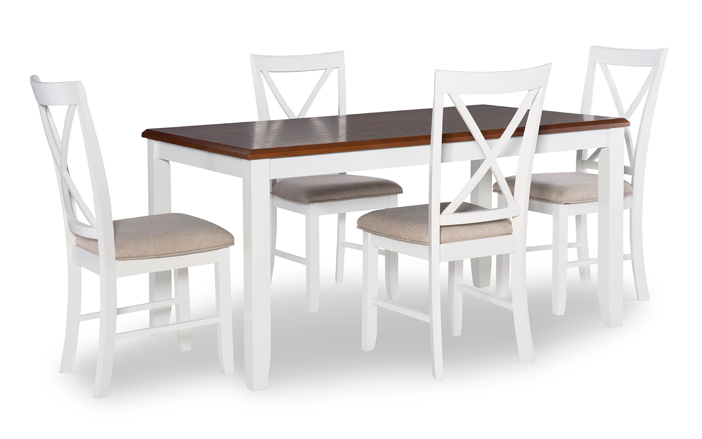 Powell Jane 5-Piece Dining Set - Brown