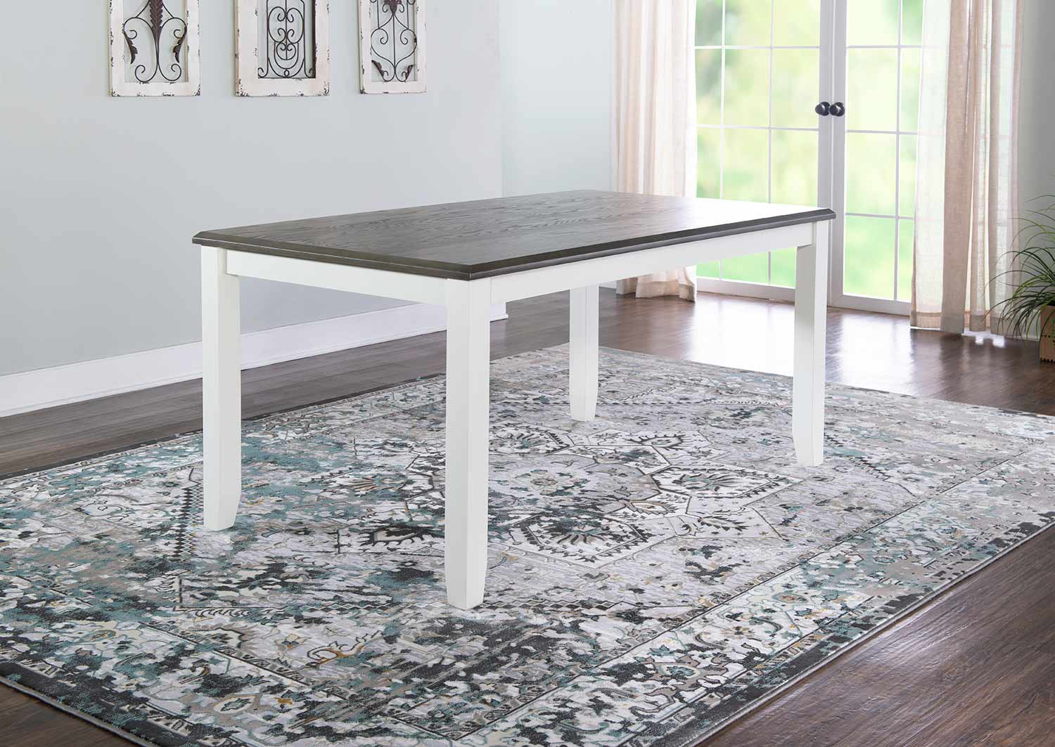 Powell Jane Dining Table - Grey