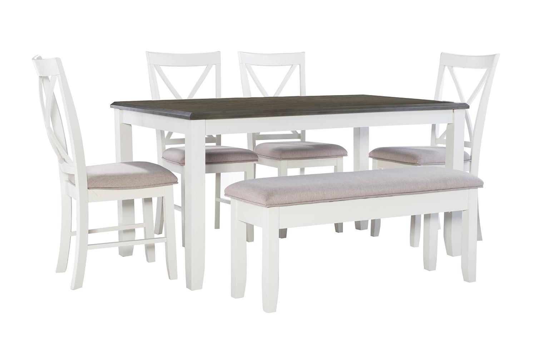 Powell Jane 6-Piece Dining Set - Grey