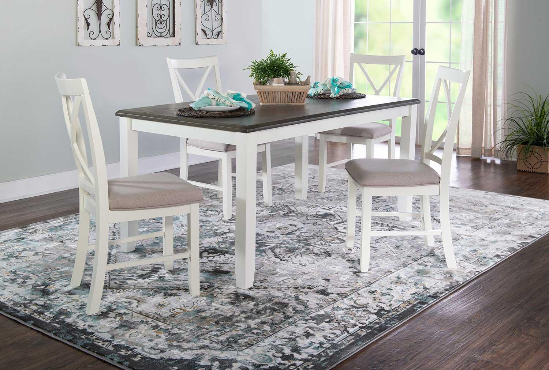 Powell Jane 5-Piece Dining Set - Grey
